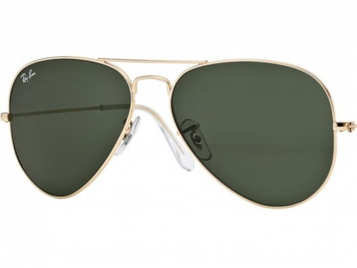 Ray-Ban Aviator Gold Frame Crystal Green lens