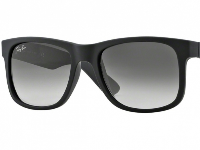 Ray-Ban Justin Black Frame Crystal Grey Lens