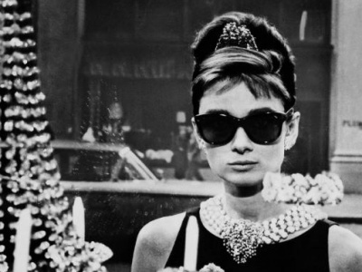Audrey Hepburn in her Ray-Ban sunglasses