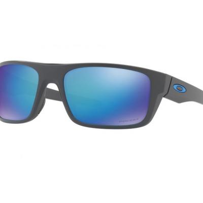 Oakley Drop Point In Matte Grey With Prizm Sapphire Polarised Lenses OO9367-06