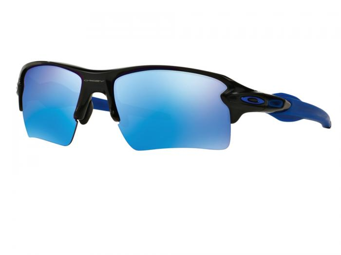 Oakley Flak 2.0 XL In Polished Black With Sapphire Iridium Lenses OO9188-23