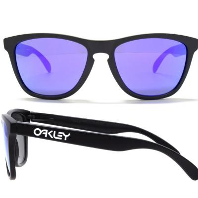 Oakley Frogskins In Matte Black With Iridium Violet Lenses OO9013-24-298