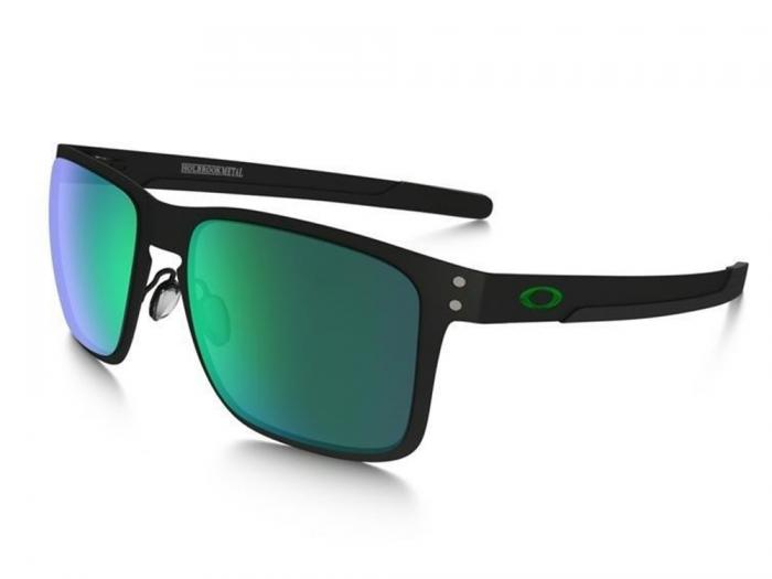Oakley Holbrook Metal In Matte Black With Jade Iridium Lenses OO4123-04