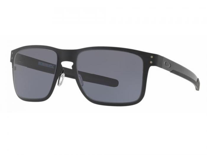Oakley Holbrook Metal Sunglasses In Matte Black With Grey Lenses OO4123-01