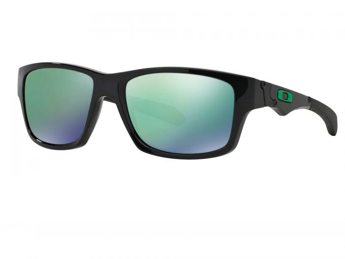 Oakley Jupiter Squared In Polished Black With Iridium Jade Lenses OO9135-05