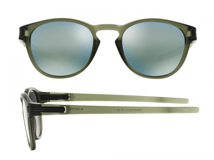 Oakley Latch Matte In Olive Ink With Iridium Emerald lenses OO9265-05