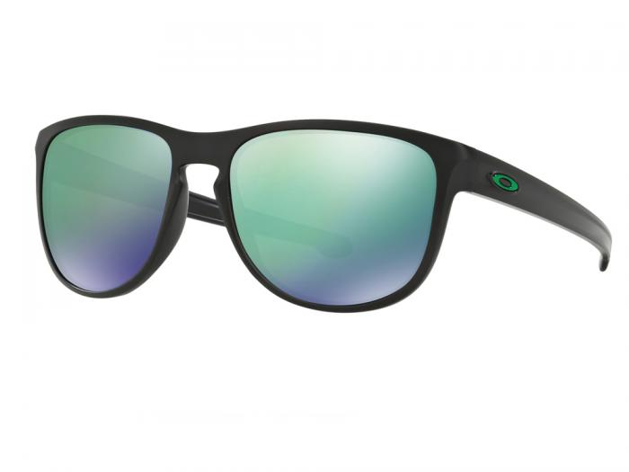 Oakley Sliver Round In Matte Black With Jade Iridium lenses OO9342-05