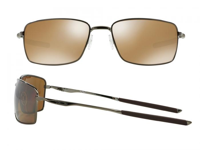 Oakley Square Wire In Tungsten With Polarised Iridium Tungsten Lenses OO4075-06