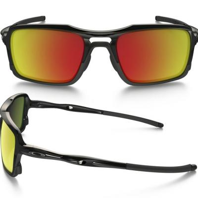 Oakley Triggerman In Polished Black With Ruby Iridium Lenses OO9266-03