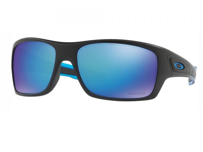 Oakley Turbine In Matte Black / Prizm Sapphire Polarized  Lenses OO9263-36