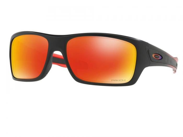 Oakley Turbine Matte Black With Ruby Fade Prizm Lenses OO9263-37
