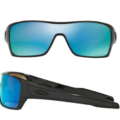 Oakley Turbine Rotor In Polished Black With Prizm Deep Water Polarised Lenses OO9307-08