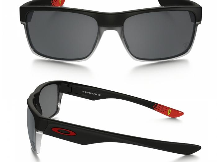 Oakley Twoface Scuderia Ferrari In Matte Black With Black Iridium Lenses OO9189-20