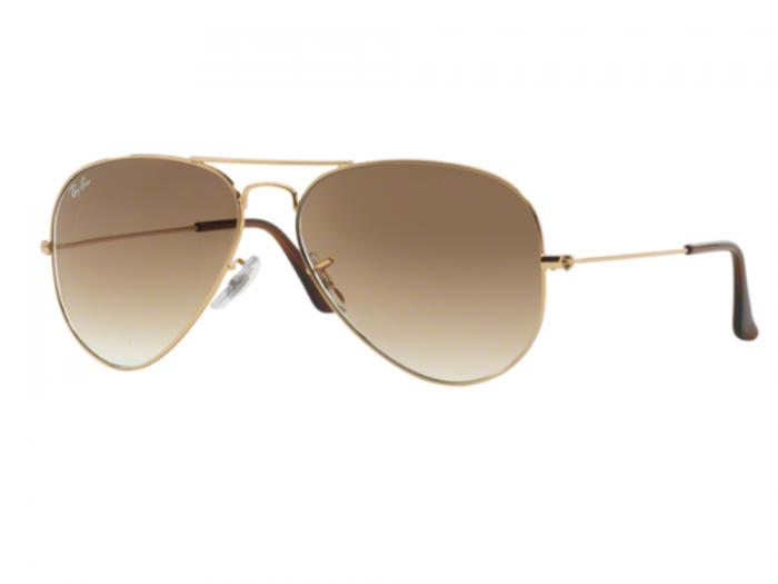 Ray-Ban Aviator In Gold With Gradient Brown Lenses RB3025 001/51