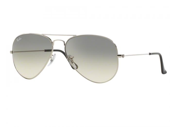 Ray-Ban Aviator In Silver With Gradient Grey Lenses RB3025 003-32