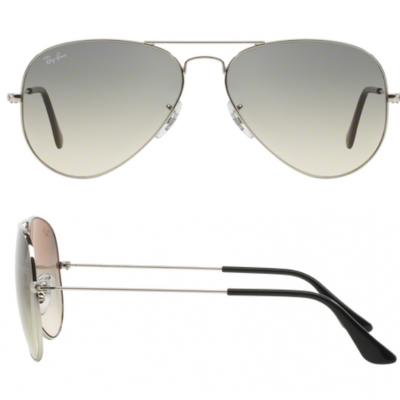 6b27667ffe Ray-Ban Aviator Sunglasses RB3025 In Silver With Grey Gradient Lenses