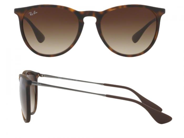 fe75e8affe Ray-Ban Erika In Matte Havana With Gradient Brown Lenses RB4171 865-13