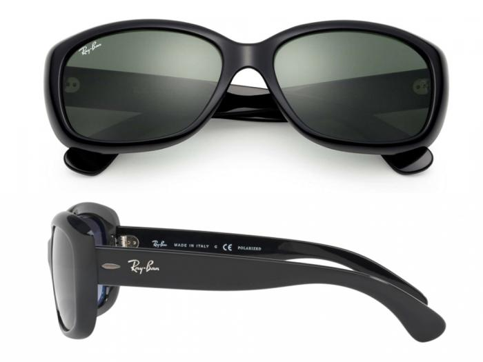 Ray-Ban Jackie Ohh In Black With Crystal Green Lenses RB4101 601