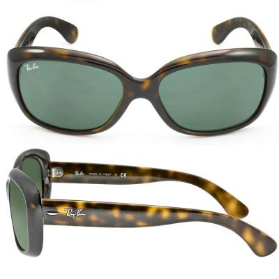 23be67b2c8 Ray-Ban Jackie Ohh In Light Havana With Crystal Green Lenses RB4101 710
