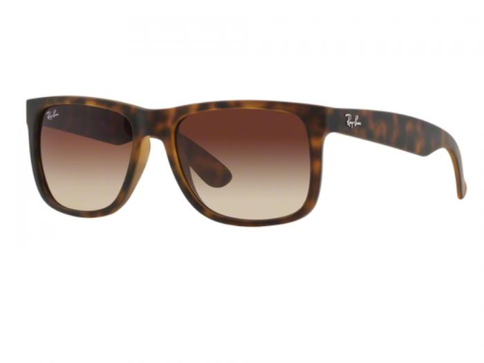 Ray-Ban Justin In Light Havana With Gradient Brown Lenses