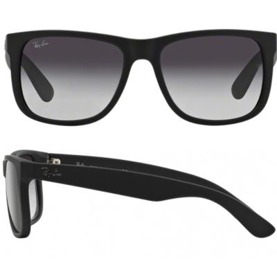 Ray-Ban Justin In Rubber Black With Crystal Grey Lenses RB4165 601-8G