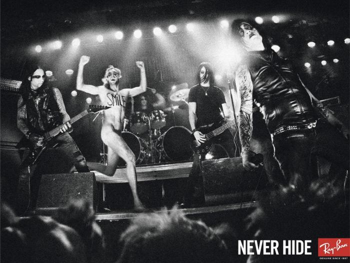 Ray Ban Never Hide poster streaker