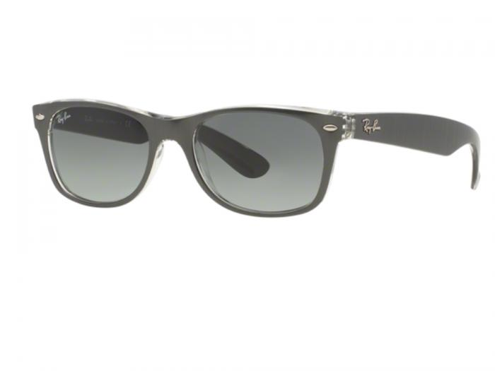 Ray-Ban New Wayfarer In Gunmetal With Gradient Grey Lenses RB2132 614371