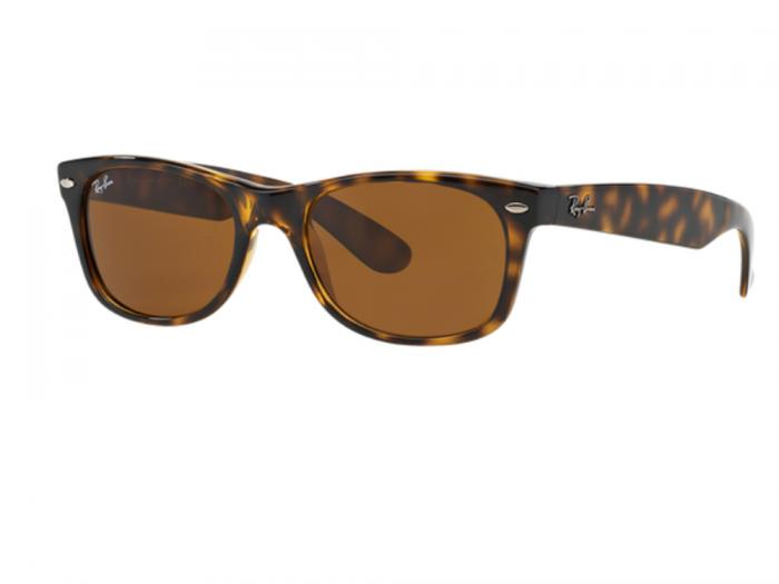 5b36a4e37 Ray-Ban New Wayfarer In Light Havana With Crystal Brown Lenses RB2132 710