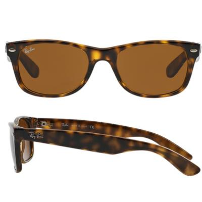 Ray-Ban New Wayfarer In Light Havana With Crystal Brown Lenses RB2132 710