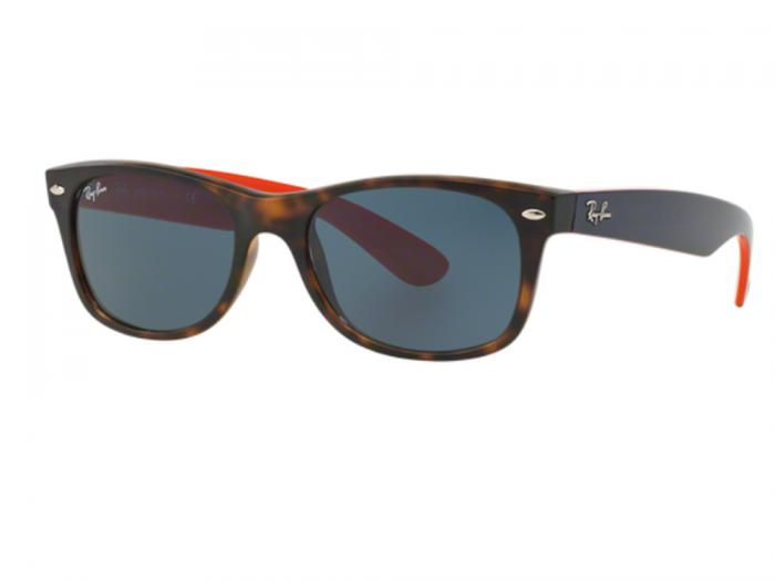Ray-Ban New Wayfarer In Matte Havana With Crystal Grey Lenses RB2132 6180R5