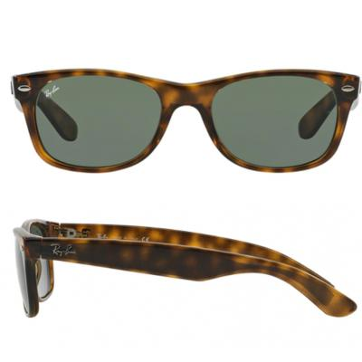 Ray-Ban New Wayfarer In Tortoise With Crystal Green Lenses RB2132 902L