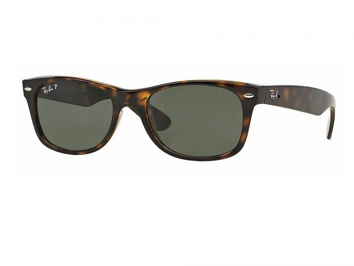 Ray-Ban New Wayfarer In Tortoise With Green Gradient Polarised lenses RB2132 902-58
