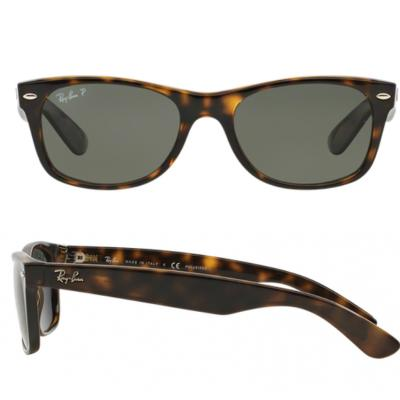 47d809c0d Ray-Ban New Wayfarer In Tortoise With Green Gradient Polarised lenses RB2132  902-58