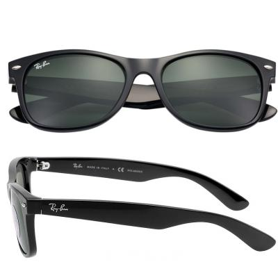 Ray-Ban Wayfarer In Black With Crystal Green Lenses RB901