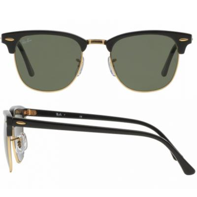 rb3016_W0365_shot2 Ray-Ban Clubmaster in Ebony with Crystal Green Lenses