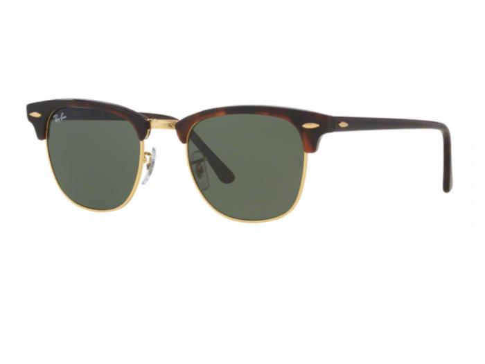 rb3016_W0366_tq Ray-Ban Clubmaster in Havana with Crystal Green Lenses