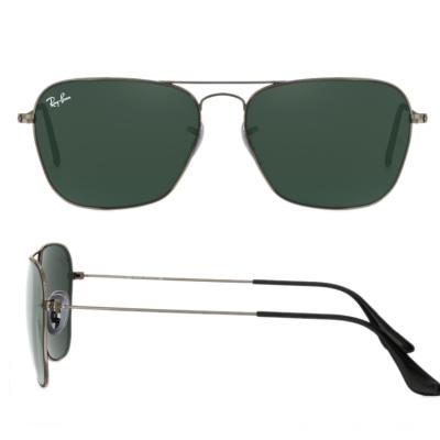 rb3136_004_shot2 Ray-Ban Caravan Gunmetal with Green Crystal Lenses