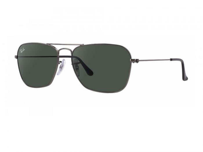 rb3136_004_tq Ray-Ban Caravan Gunmetal with Green Crystal Lenses