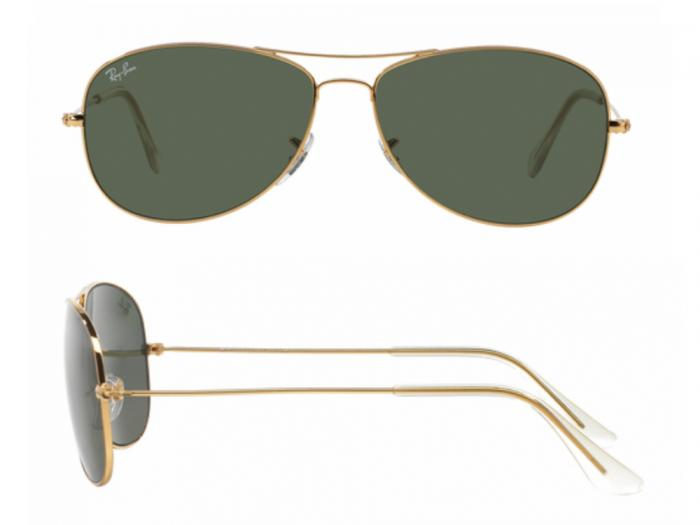 6efecb1164a ... spain rb3362001shot2 ray ban cockpit gold with crystal green lenses  9302c 0d9c5