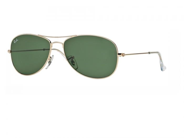 rb3362_001_tq Ray-Ban Cockpit Gold with Crystal Green Lenses