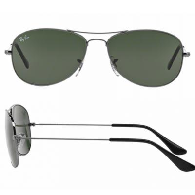 rb3362_004_shot2 Ray-Ban Cockpit Gunmetal with Crystal Green Lenses