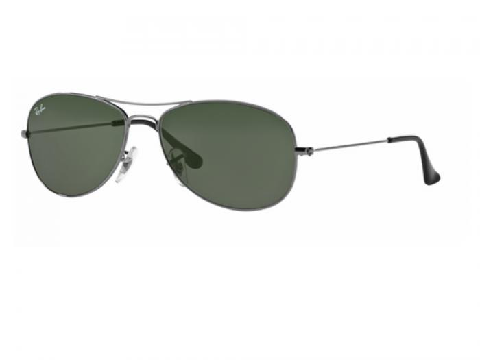 rb3362_004_tq Ray-Ban Cockpit Gunmetal with Crystal Green Lenses