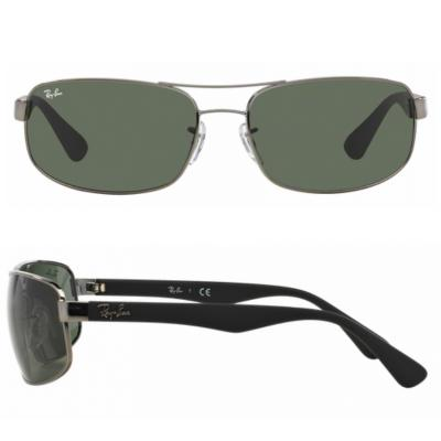 rb3445_004_shot2 Ray-Ban RB3445 Gunmetal with Green Lenses