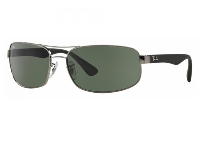 rb3445_004_tq Ray-Ban RB3445 Gunmetal with Green Lenses