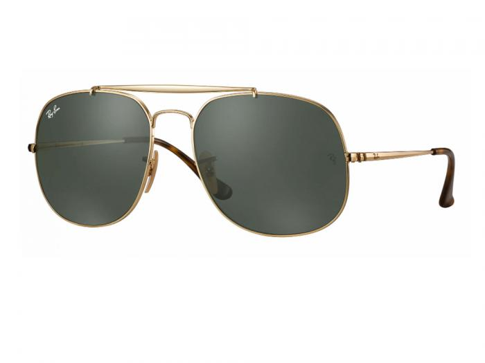 rb3561_001_tq Ray-Ban 'The General' Gold with Green Lenses