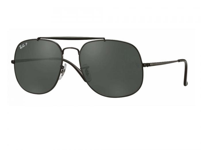 rb3561_002_58_tq Ray-Ban 'The General' Black with Green Polarised Lenses