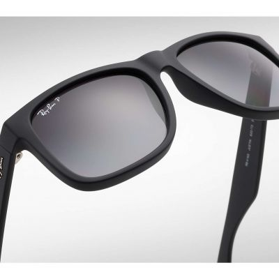 RB4165 622/T3 ray-ban justin black polarized grey gradient