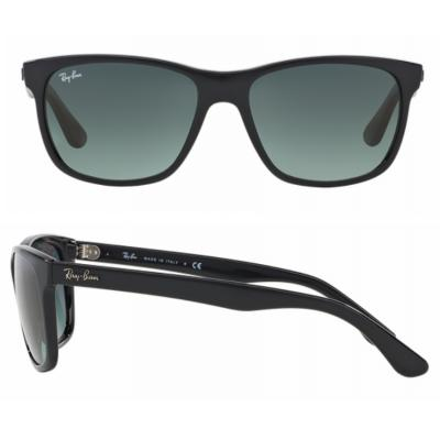 rb4181_601_71_shot2 Ray-Ban RB4181 Shiny Black Gradient Grey Crystal