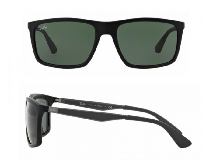 rb4228_601S71_shot2 Ray-Ban RB4228 Matte Black with Green Lenses