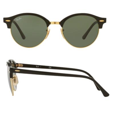 rb4246_901_shot2 Ray-Ban Clubround Black Green